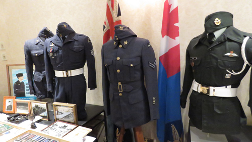 Cadet Uniforms Display